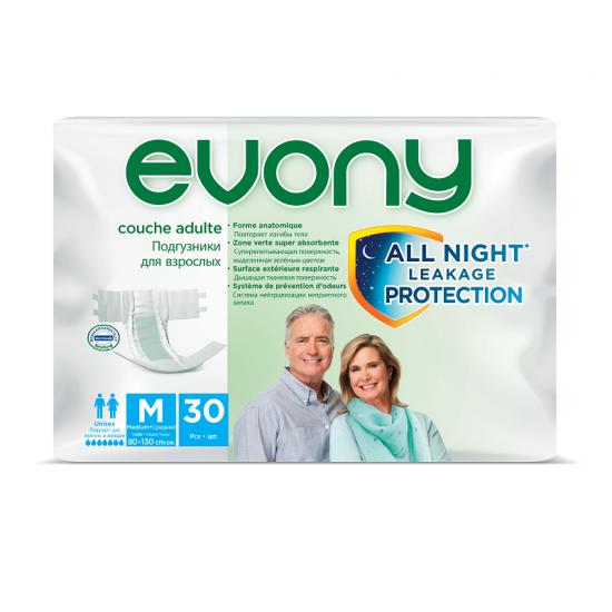 Evony scutece adulti medium nr. 2 30buc/set