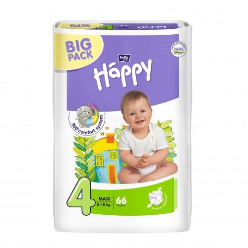 Scutece Happy nr 4 maxi 66 buc