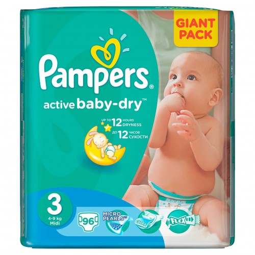 Scutece Pampers nr 3 90 buc Giant