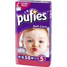 Scutece Pufies nr 5 soft care 58 buc