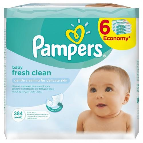 Pampers servetele umede baby fresh 6 x 64buc/pachet