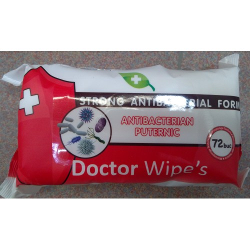 Servetele Dr Wipes antibacteriene 72buc/pachet