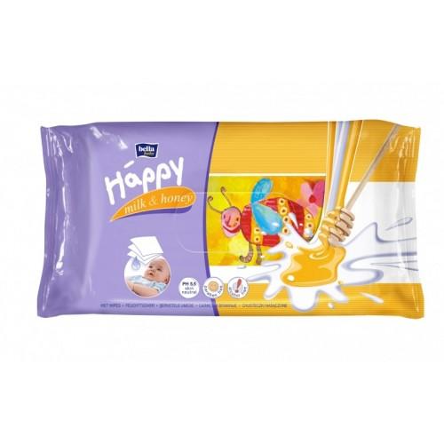 Happy servetele umede Milk&Honey 64buc